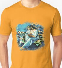 GIRL AND FLOWERS 7D-ST T-Shirt