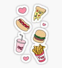 Fast Food Love Sticker