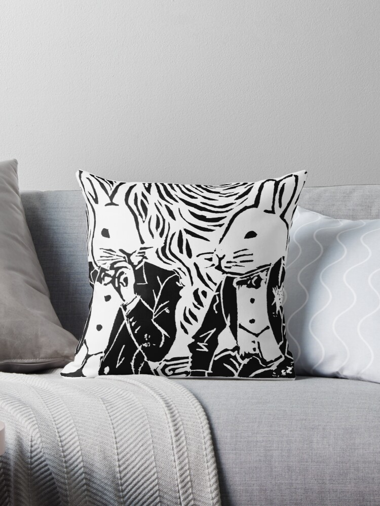 SPLIT HARES (black) by rhombuser
