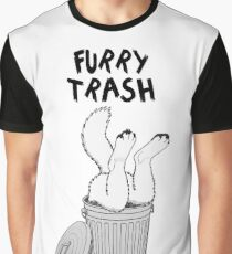 Furry Trash - White/Arctic Wolf Graphic T-Shirt