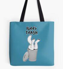 Furry Trash - White/Arctic Wolf Tote Bag