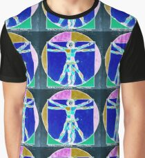 Vitruvian Man Colour Rev Graphic T-Shirt
