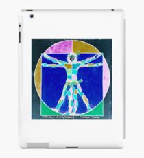 Vitruvian Man Colour Rev iPad Case/Skin
