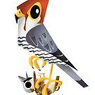 Red-necked Falcon caricature by rohanchak