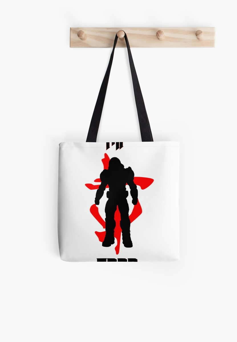 Doom Slayer 2016 Symbol Tote Bags By Snailgazer Redbubble
