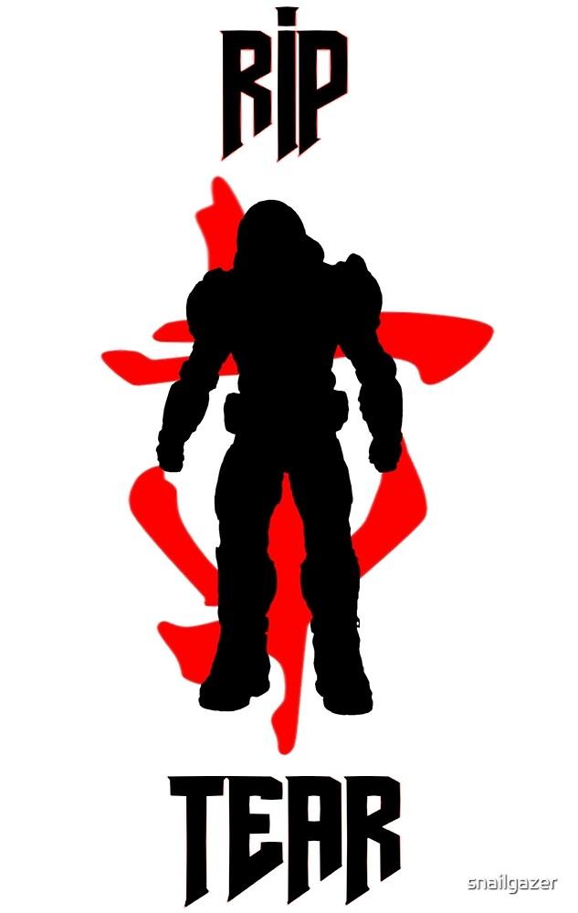Doom Slayer 2016 Symbol By Snailgazer Redbubble