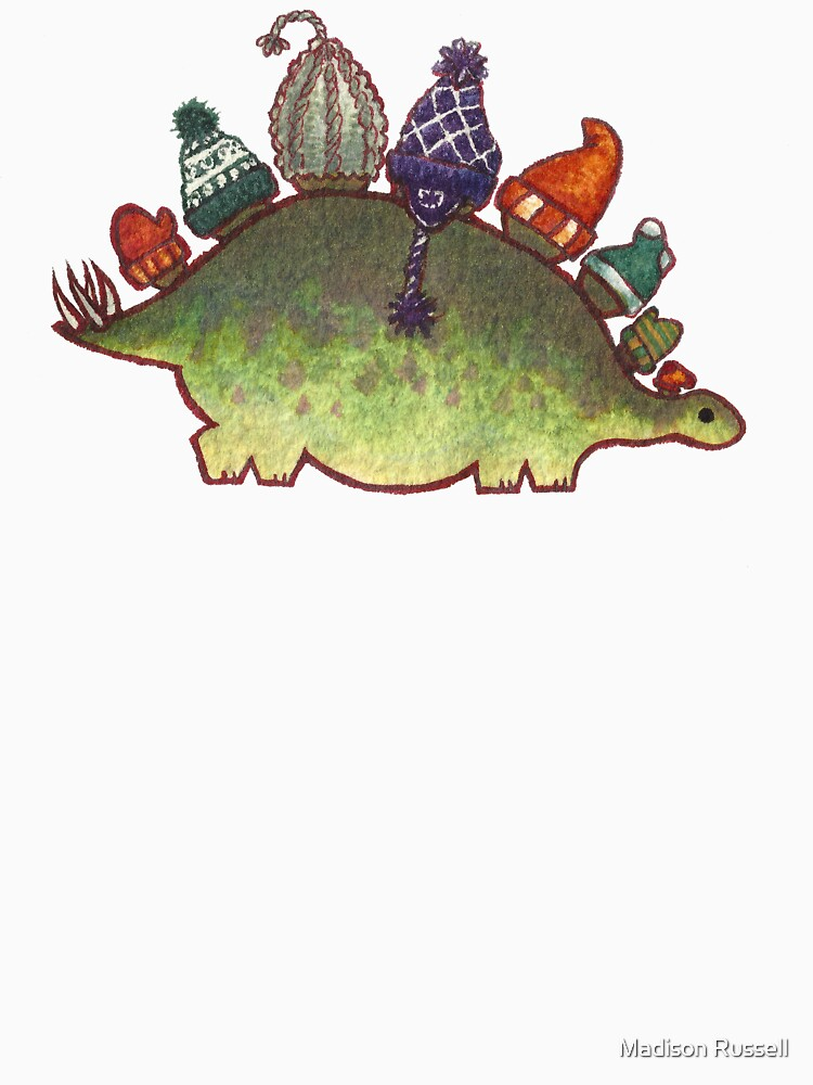 Green Stegosaurus Derposaur with Hats by MadiRuss
