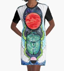 Space Beetle  Graphic T-Shirt Dress
