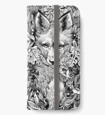 Cacher le renard Étui portefeuille/coque/skin iPhone