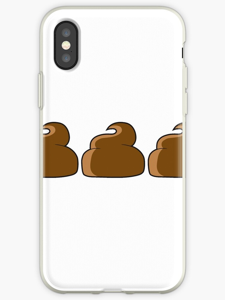 '3 heap group team pattern design small shit shit pile of feces smelling  disgusting heaps comic cartoon' iPhone Case by Motiv-Lady