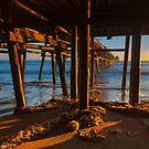 San Clemente Pier Sunset by photosbyflood