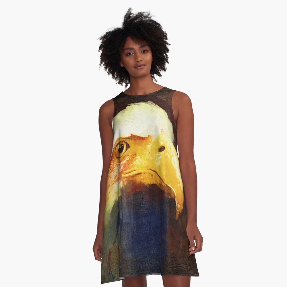 Land of the Free, Home of the Brave A-Line Dress Front