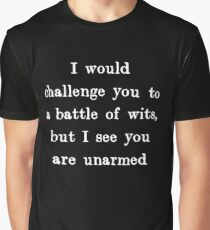 Battle of Wits Graphic T-Shirt