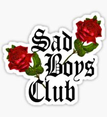 Sad Boys Club (On White) Sticker