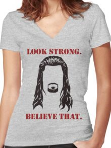 Lookstrong Reigns Tee Women's Fitted V-Neck T-Shirt
