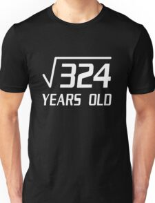 18 Years Old Square Root 324 18th Birthday T-Shirt Unisex T-Shirt