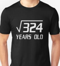18 Years Old Square Root 324 18th Birthday T-Shirt T-Shirt