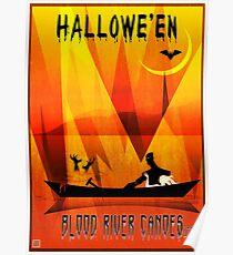 Halloween Canoeing Poster