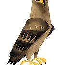Tawny Eagle caricature by rohanchak