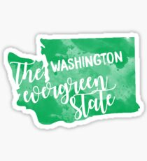 Washington - Der immergrüne Staat Sticker
