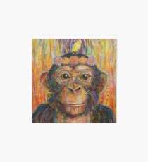 Intuition (The chimpanzee and the canary) painting - 2016 Art Board