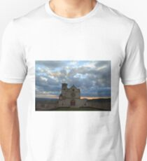 Photography of famous Basilica of St. Francis of Assisi (Basilica Papale di San Francesco) at sunset in Assisi, Umbria, Italy T-Shirt
