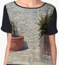 Cacti in flower pots Chiffon Top