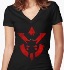 Vegeta Royal Saiyan Symbol Women's Fitted V-Neck T-Shirt