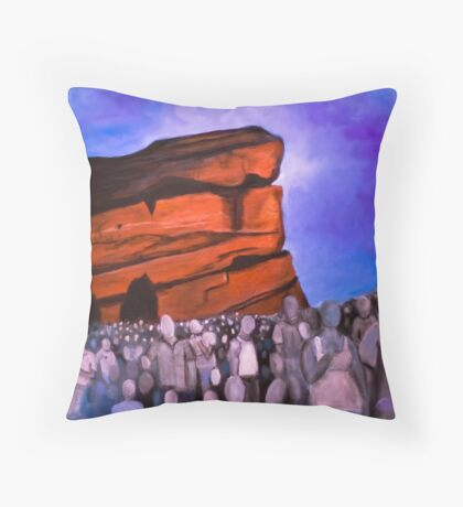 A Show at Red Rocks Throw Pillow