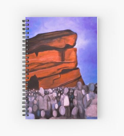A Show at Red Rocks Spiral Notebook