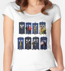 Doctor Who - Doctors & Tardises Women's Fitted Scoop T-Shirt