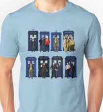 Doctor Who - Doctors & Tardises Unisex T-Shirt