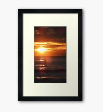 Sunrise Standup Paddle Framed Print