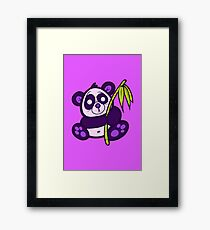 Purple Panda Framed Print