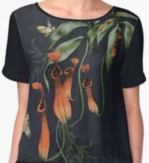 Carnivorous Pitcher Plant Dark Women's Chiffon Top