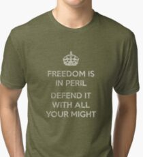 Freedom Is In Peril, Defend It With All Your Might (Textured Version) Tri-blend T-Shirt