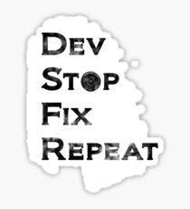 Dev Stop Sticker