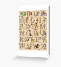 Animal ABCs Greeting Card