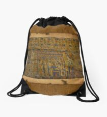 Ancient Egyptian Funerary Scroll pre 944 BC Drawstring Bag