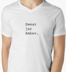 Upper Middle Bogan - Swear jar Amber Men's V-Neck T-Shirt