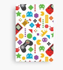 Videogame Game Pattern Canvas Print