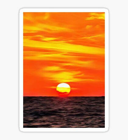 Orange Sunset Sticker