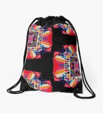 Cut and Paste Kaleidoscope  Drawstring Bag