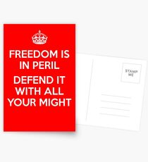 Freedom is in Peril Postcards