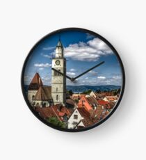 Roof Tops - Medieval Town Ueberlingen - Überlingen Deutschland Photo Clock