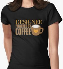 Designer powered by coffee Women's Fitted T-Shirt