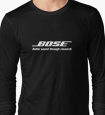 Bose White  Long Sleeve T-Shirt