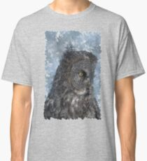 Contemplation - Great Grey Owl Portrait Classic T-Shirt