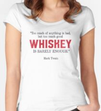 Whiskey Quote - Mark Twain Women's Fitted Scoop T-Shirt