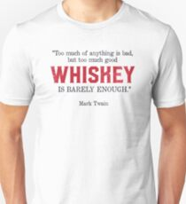 Whiskey Quote - Mark Twain T-Shirt